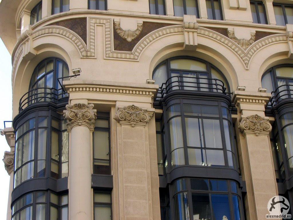 Detalle de la fachada de la Casa Matesanz