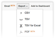 Export and share reports