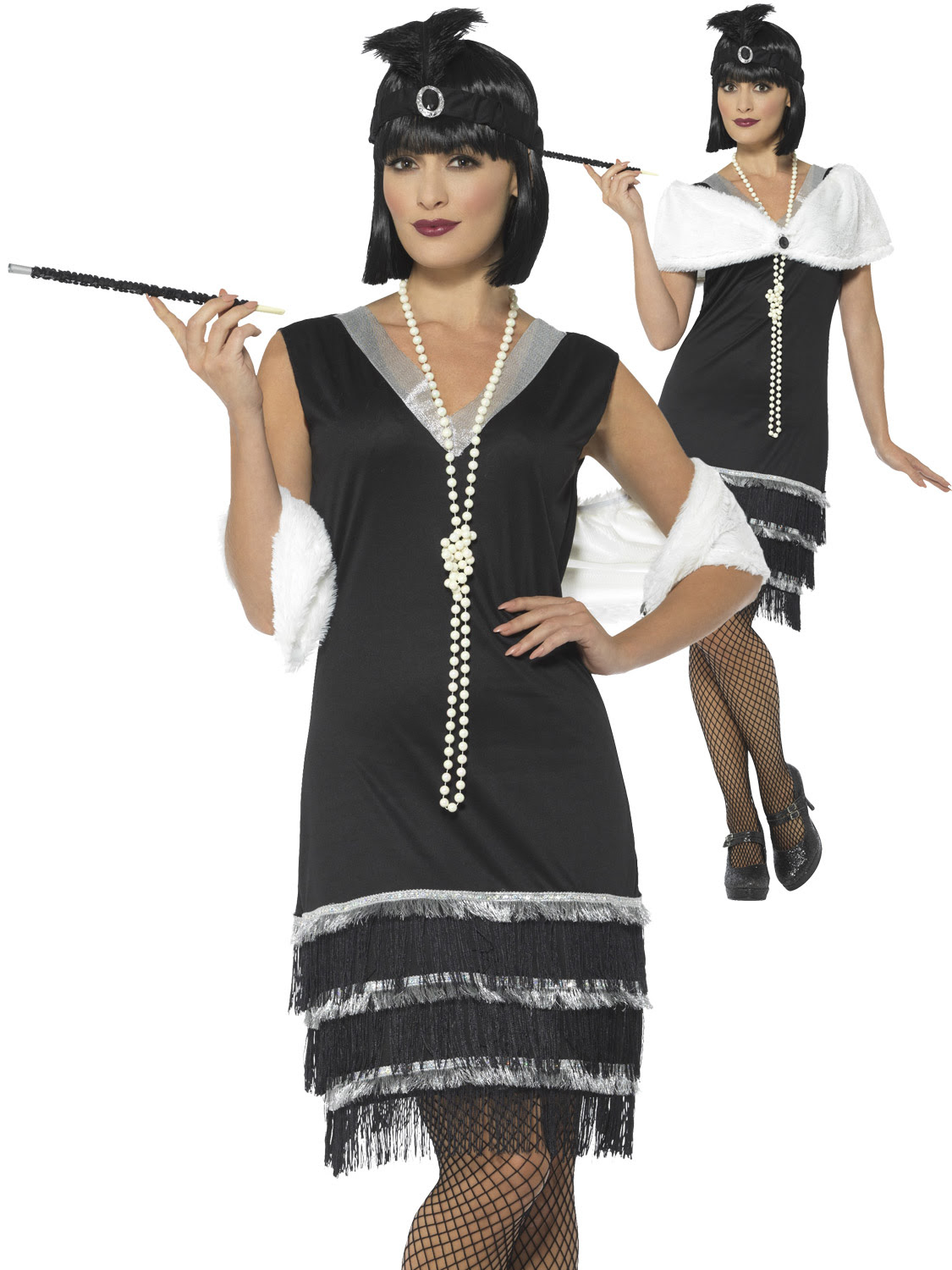 ladies 1920s flapper costume adults charleston fancy dress
