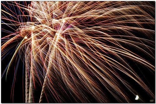 fireworks w moon DSC_8120