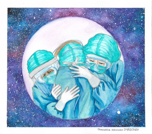 Francesca Mancuso - nurses - watercolour