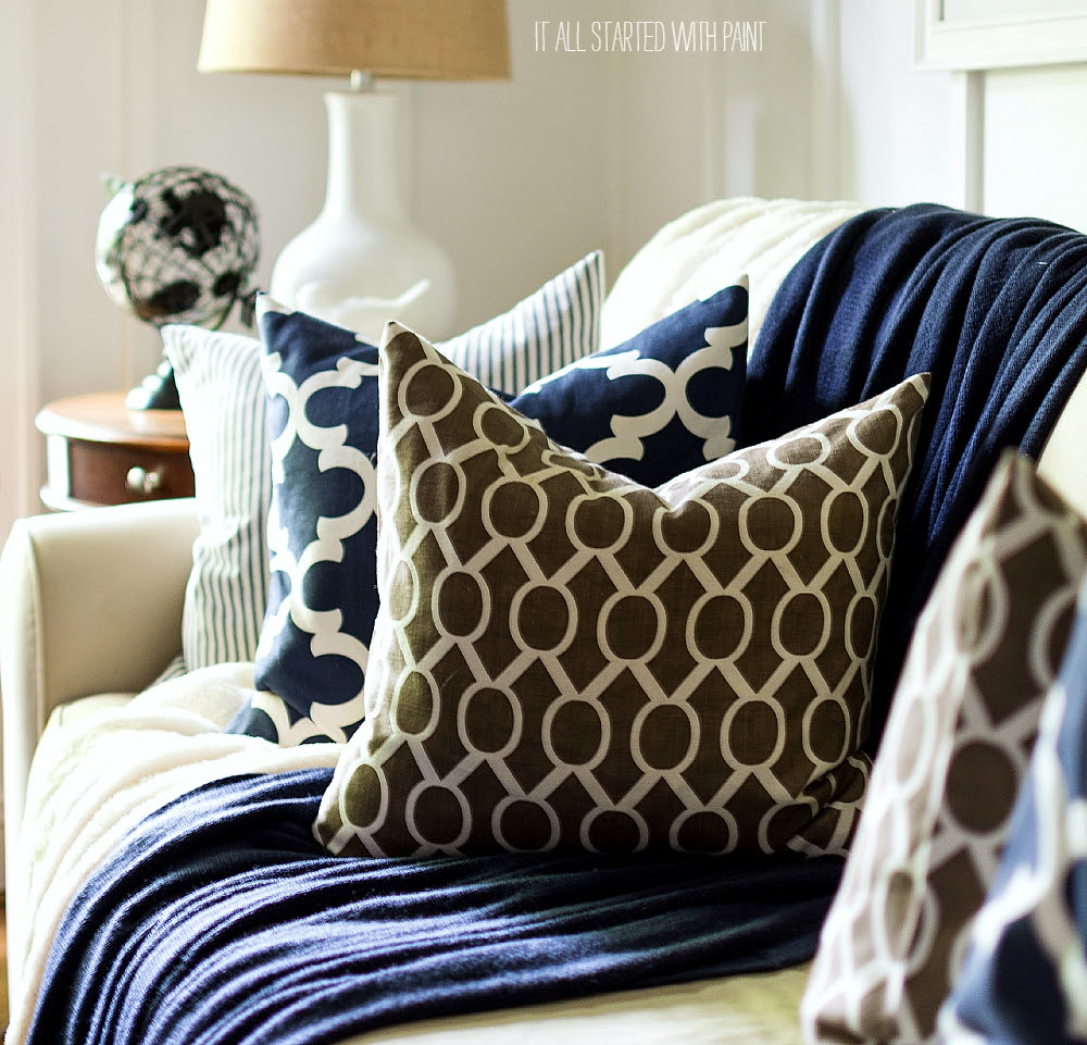 Fall Decor In Navy And Blue