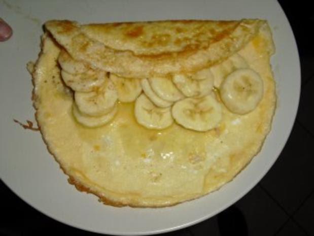 Omelett mit Bananen Dessert Rezept