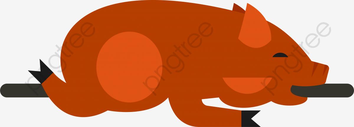 豚の丸焼き イラスト