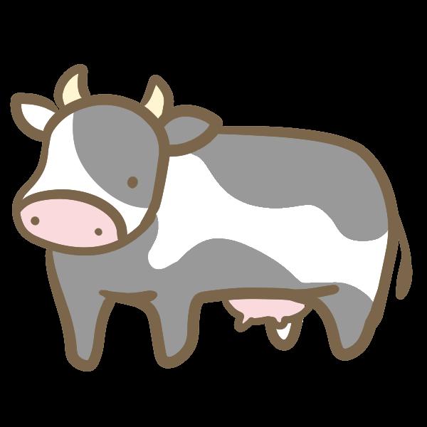 乳牛のイラスト かわいいフリー素材が無料のイラストレイン