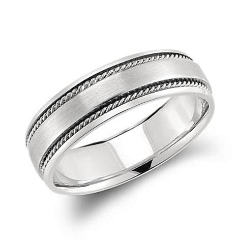 Handcrafted Twist Wedding Ring in Platinum (6mm)   Blue Nile