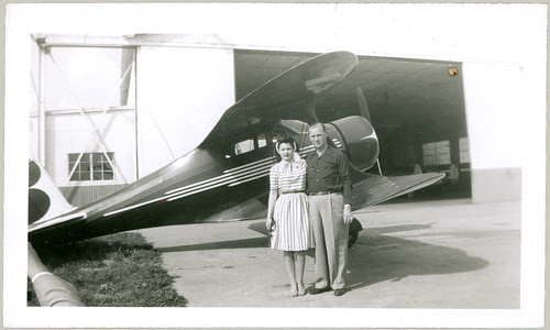 Biwing Airplane, man and woman