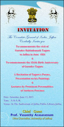 Invitation by CGI on Tahore day in Jaffna