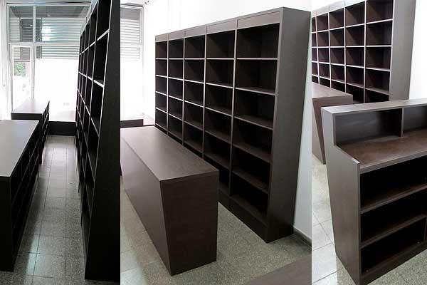Dormitorio muebles modernos estanterias de madera para - Mobiliario para negocios ...