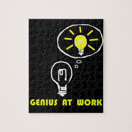 Genius at work jigsaw puzzle