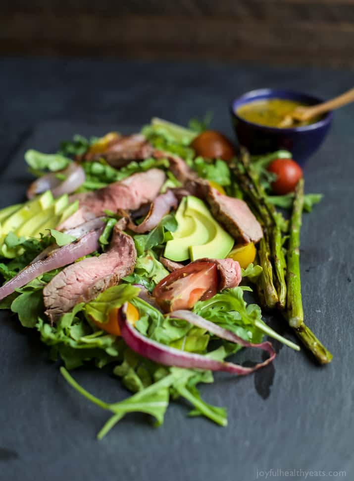 California Steak Salad with Chimichurri Dressing  Easy Healthy Recipes Using Real Ingredients