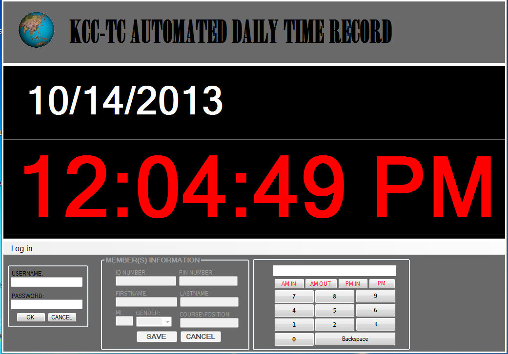 KCC-TC Automated Daily Time Record | Free source code, tutorials ...