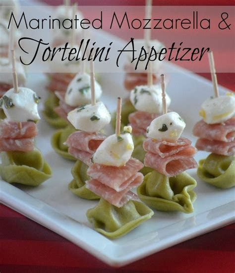 Marinated Mozzarella and tortellini appetizer   Appetizers