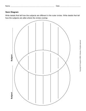 editable venn diagram pdf form Fill Online, Printable, Fillable ...
