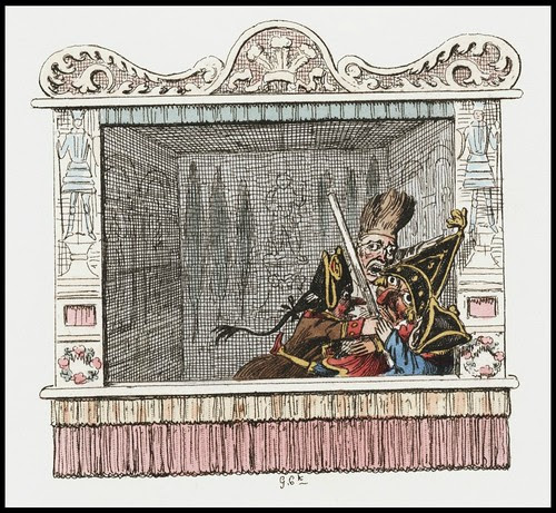 Punch and Judy by George Cruikshank, 1828 h