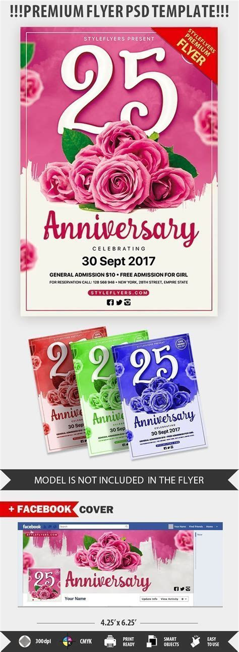 Anniversary Party PSD Flyer Template #20885   Styleflyers