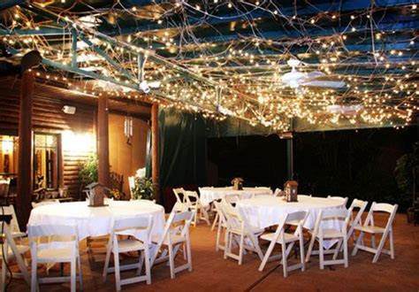 The Lodge at Grant's Trail   outdoor patio wedding
