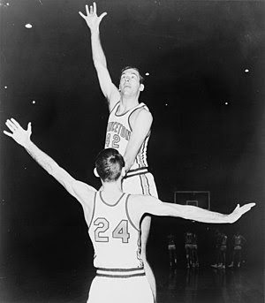 Bill Bradley playing basketball