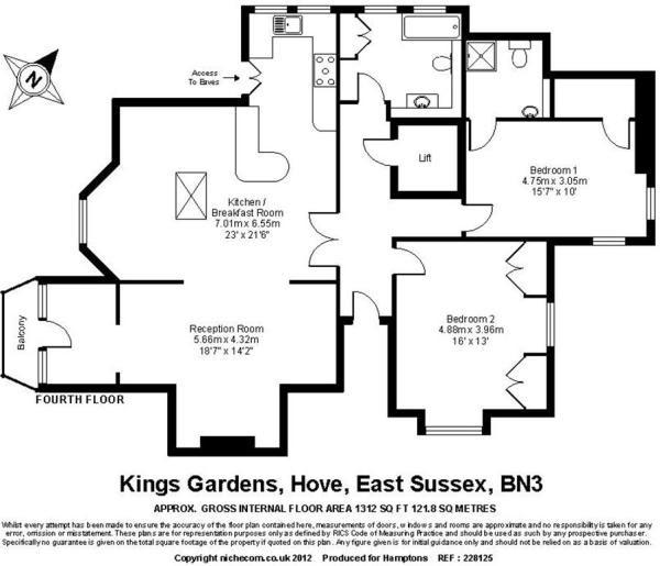 Zoella's old apartment's floorplan