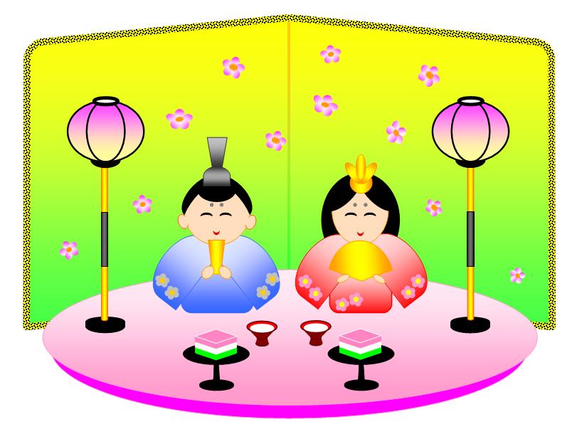 雛飾りイラスト sennenの blog