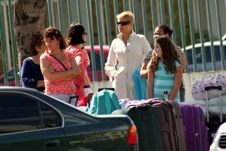 Xuxa com as mães das outras jogadoras