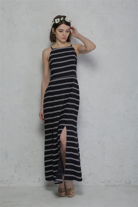 Sugarhill Boutique Mo Stripe Maxi Dress   Blue and White