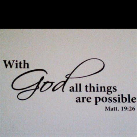 Quotes With God All Things Are Possible
