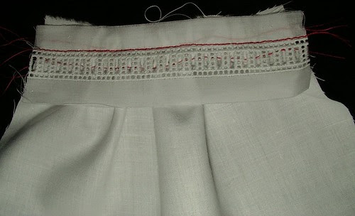 stitch next to entredeux