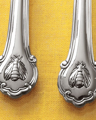 Fine Stainless Steel Flatware Set - Wallace Napoleon Bee Flatware ...