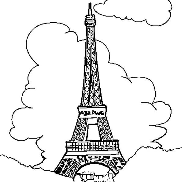 Coloriage Tour Eiffel Imprimer Gratuit Auto Electrical Wiring Diagram