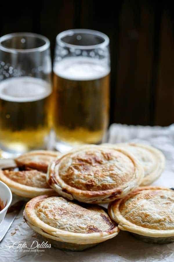 Slow Cooker Steak and Gravy Pies - Cafe Delites