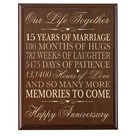 15th Wedding Anniversary Gift for Couple 15th Anniversary