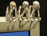 Computer-monitor-topper-skeletons