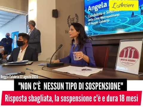 Sospesa Angela Marcianò. La legge Severino non perdona.
