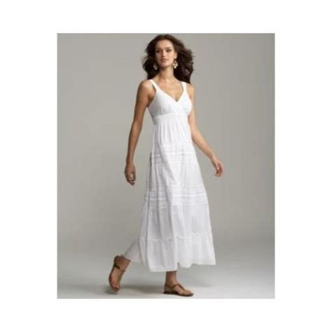 white linen dresses casual beach   Long white maxi summer