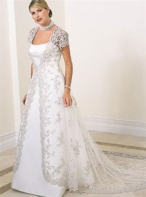 Wedding dress with sleeves plus size   PlusLook.eu Collection