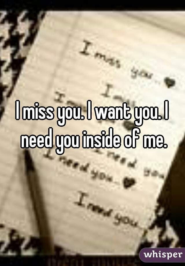 I Miss You I Want You I Need You Inside Of Me