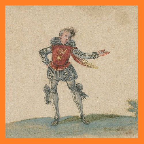 theatrical clownish figure from Jacobean era