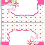 Cartão Agradecimento de Mesa Páscoa para Meninas: