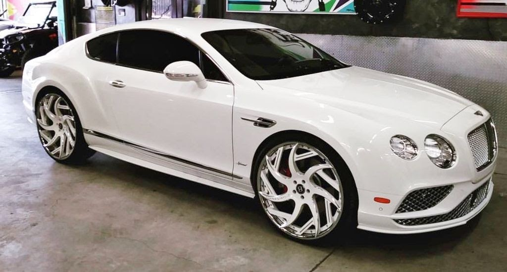 "Ford Fusion Black Rims >> Ace-1: White Bentley GT Coupe on 24"" Forgiatos"