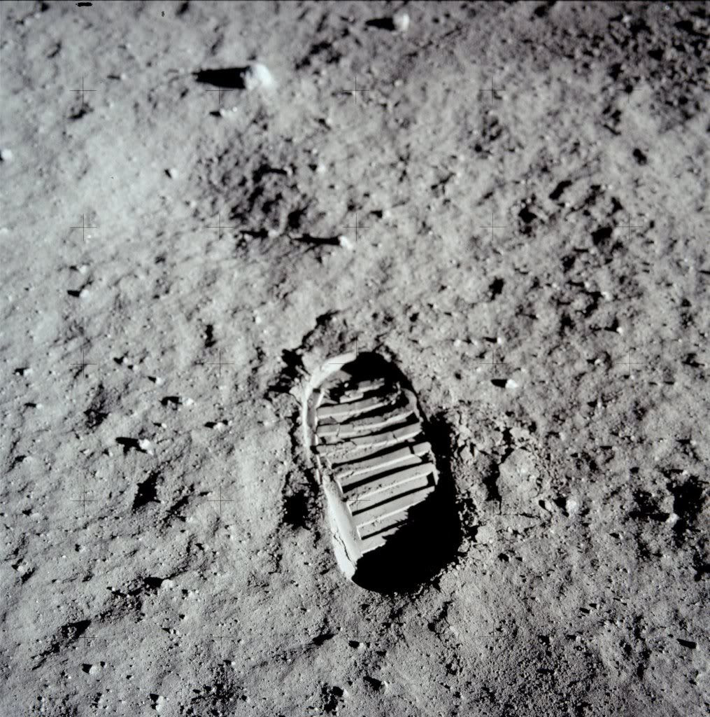 Man's Mark on the Moon. Image Courtesy NASA