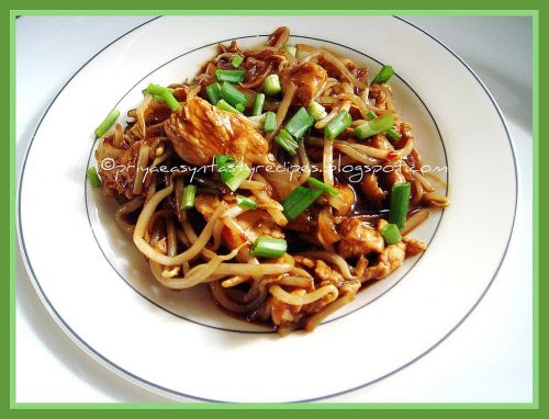 Sauteed Chicken & Bean sprouts