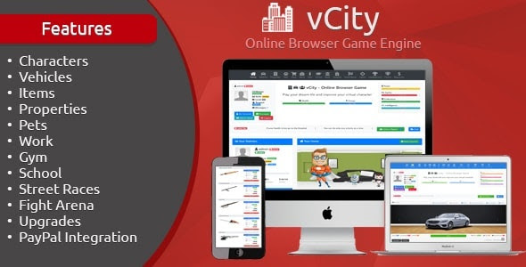 vCity v2.1 - Online Browser Game Engine