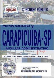 Apostila Concurso Prefeitura de Carapicuíba 2017 | AUXILIAR ADMINISTRATIVO