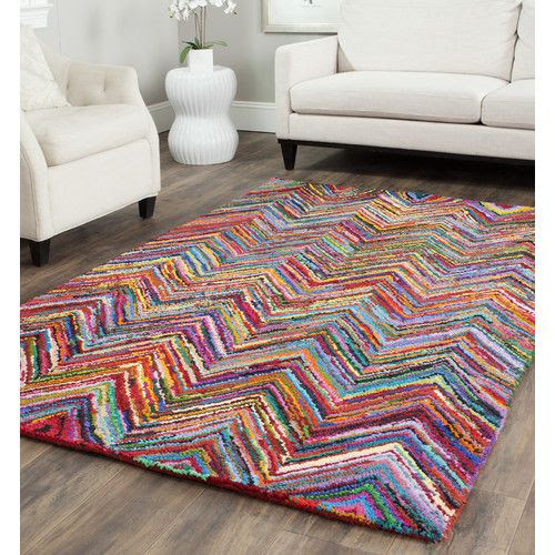 Safavieh Nantucket Pink Abstract Area Rug & Reviews | Wayfair