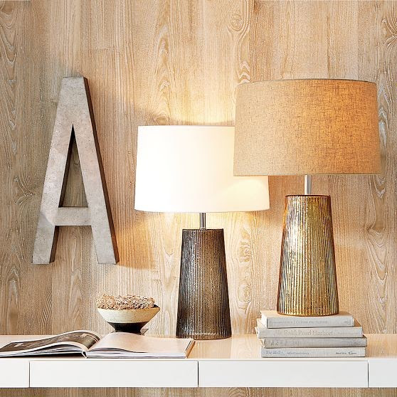 Fluted-Glass Table Lamp - contemporary - table lamps - by West Elm