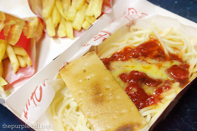 Spaghetti Solo P45 French Fries Solo P47 each