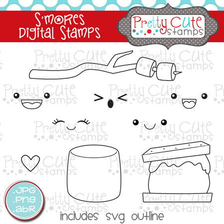 S'mores Digital Stamps