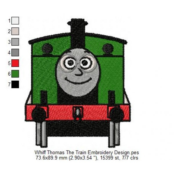 Whiff Thomas The Train Embroidery Design