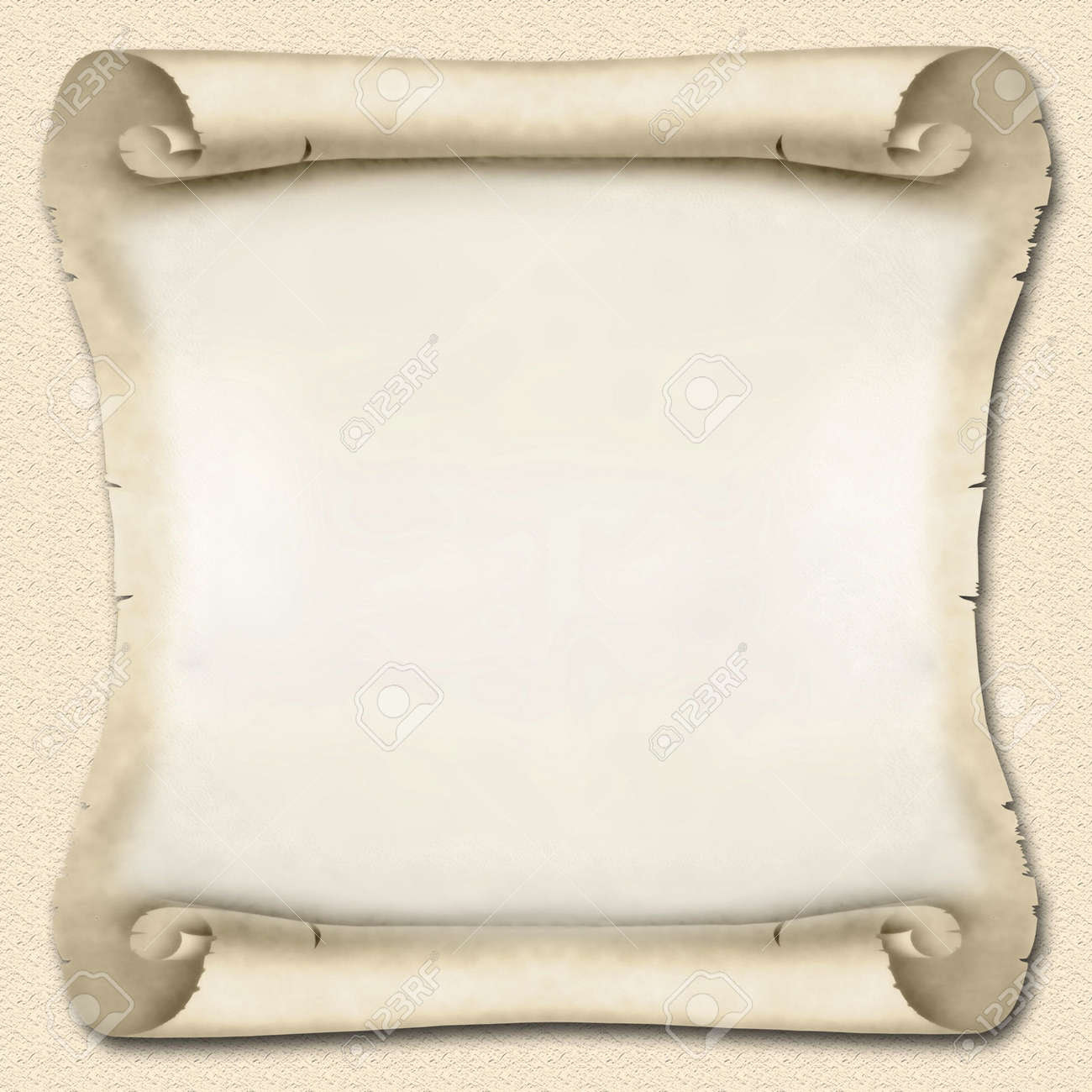 Blank Ancient Scroll 02 Stock Photo, Picture And Royalty Free ...